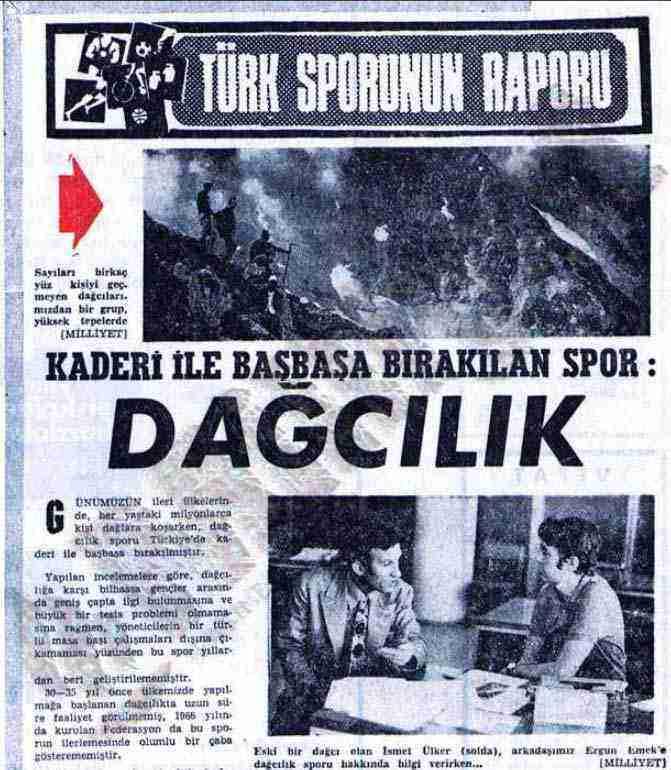 türkiye'de dağcılık tarihi