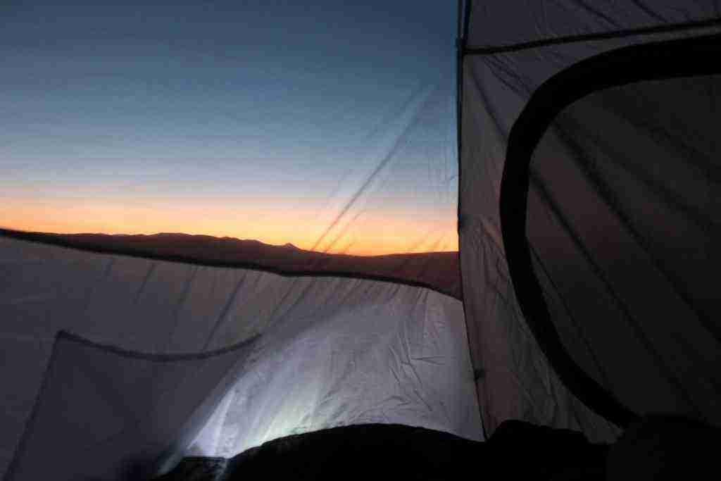 çadırdan gün batımı