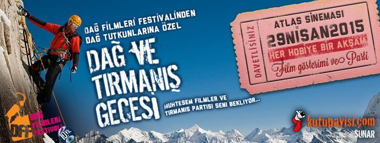Dağ Filmleri Festivali dağ ve tırmanış gecesi