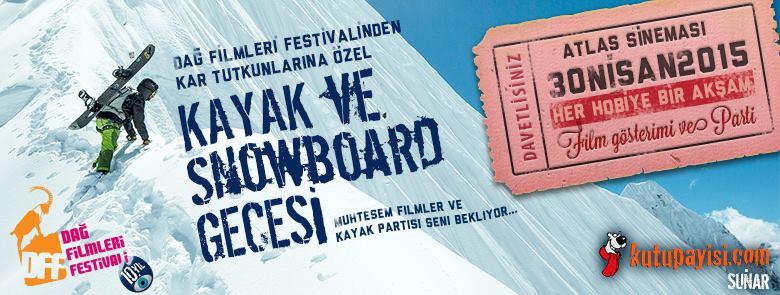 Dağ Filmleri Festivali kayak ve snowboard gecesi