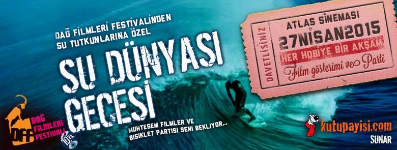 Dağ Filmleri Festivali su dünyası gecesi