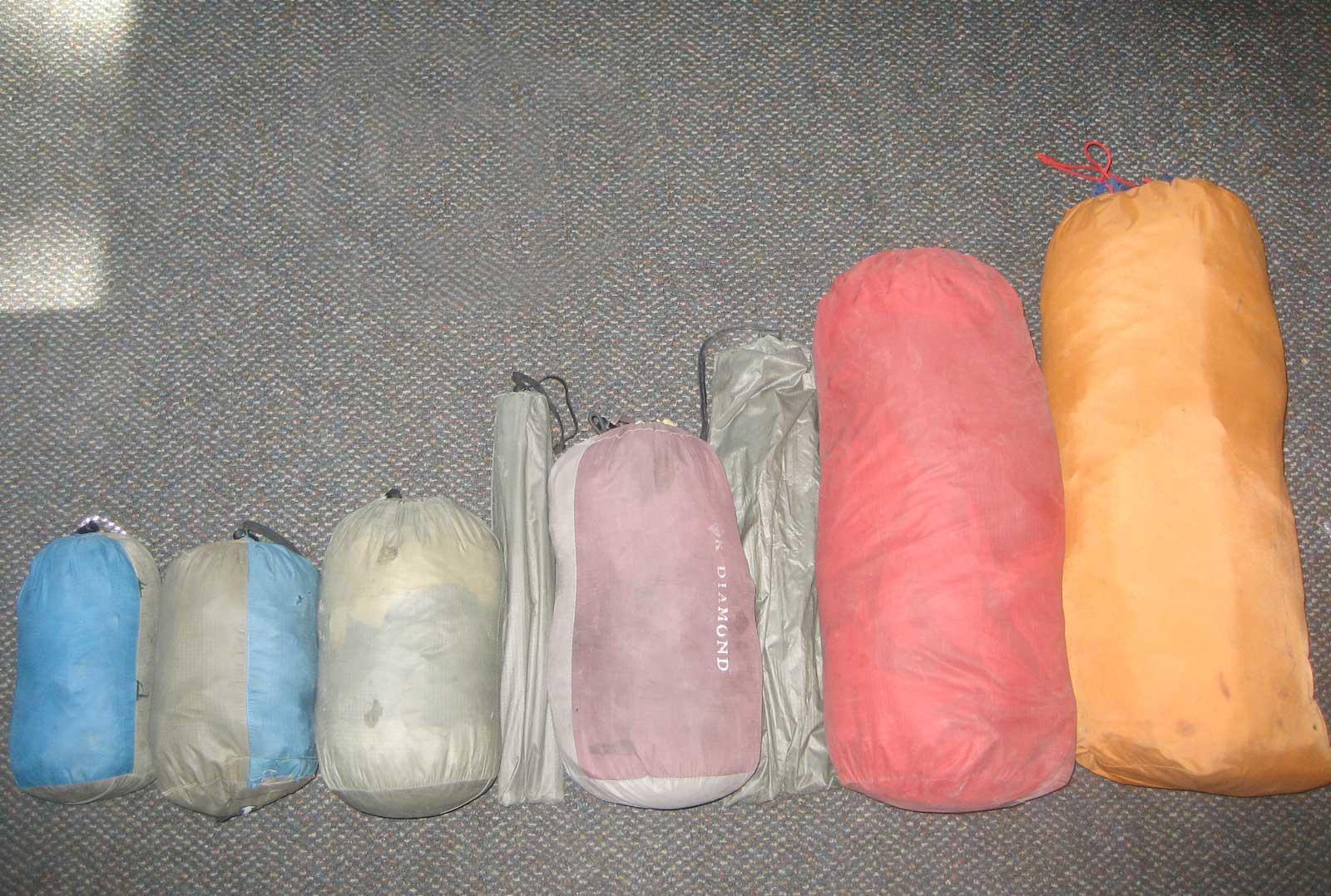 Çadır paket boyutları