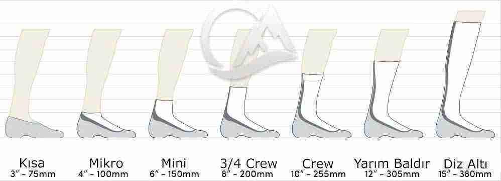 çorap boyları