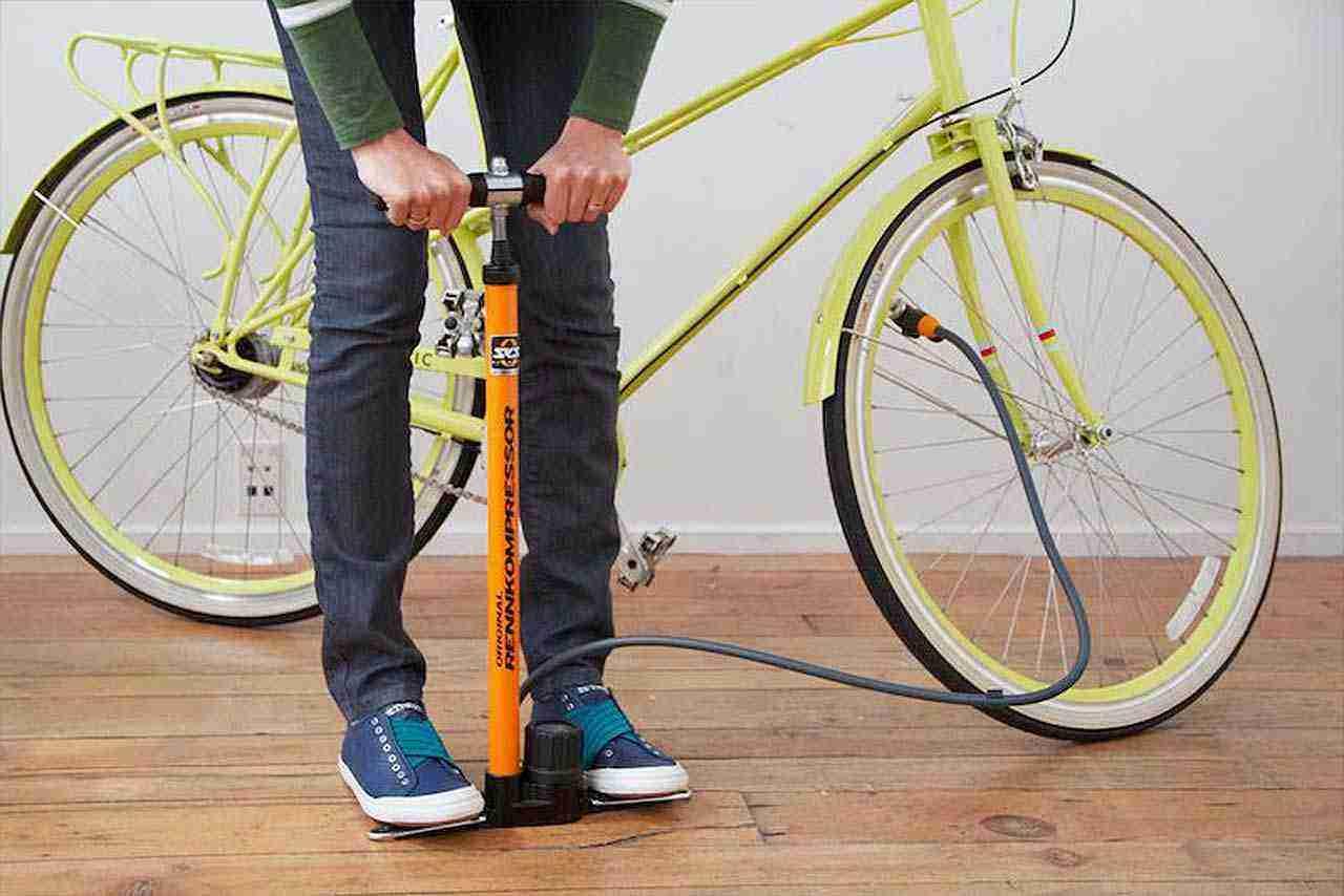ayaklı bisiklet lastik pompası