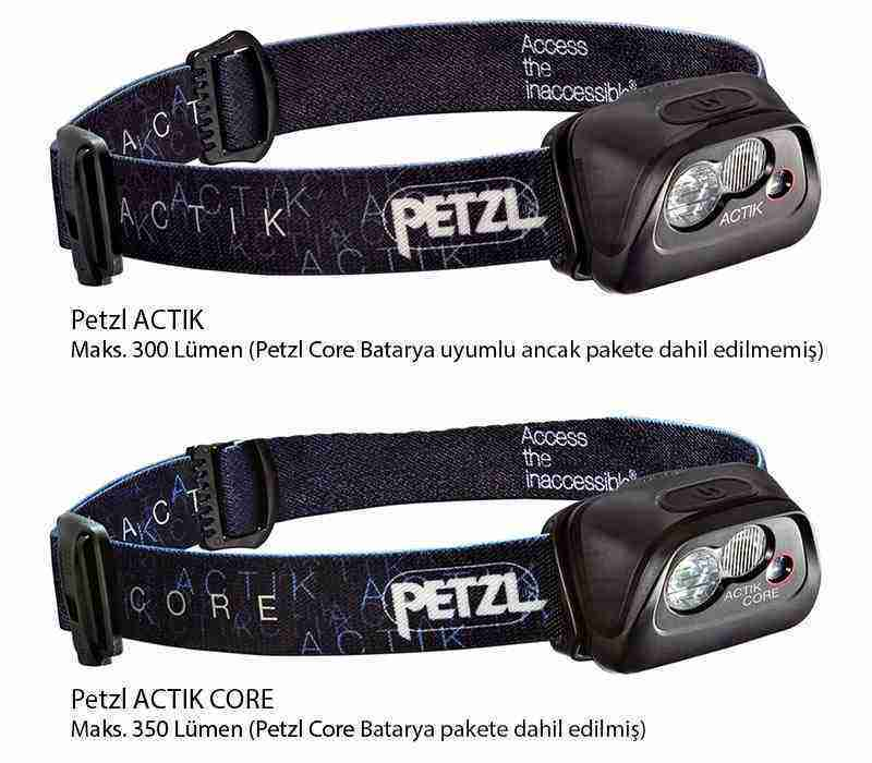 petzl actik vs actik core