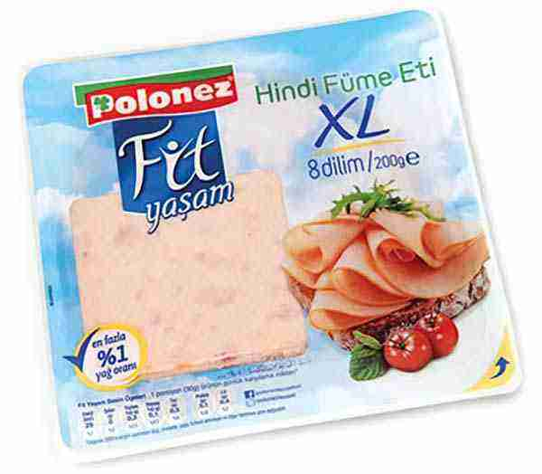 polonez fit yaşam hindi füme eti 200 gram XL