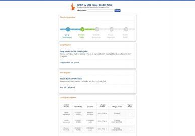 Inter by MNG Amazon kargo takip ekranı