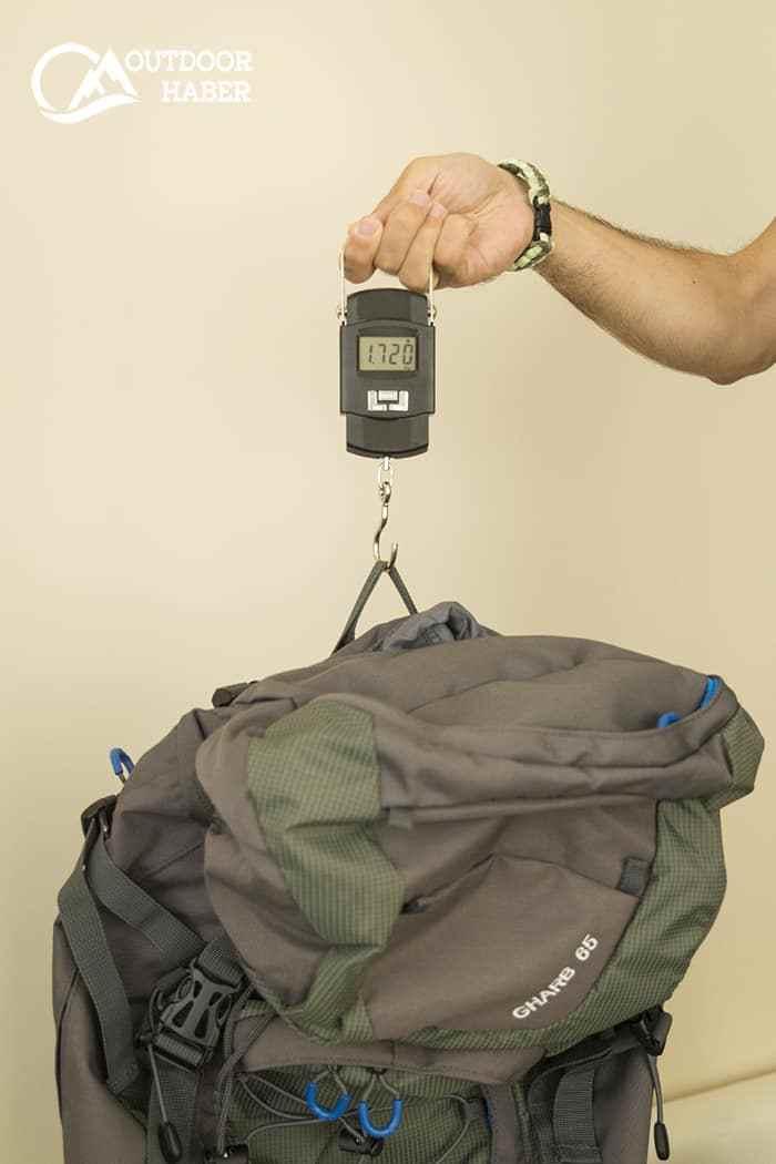 Milo Gharb 65 sırt çantası ağırlık