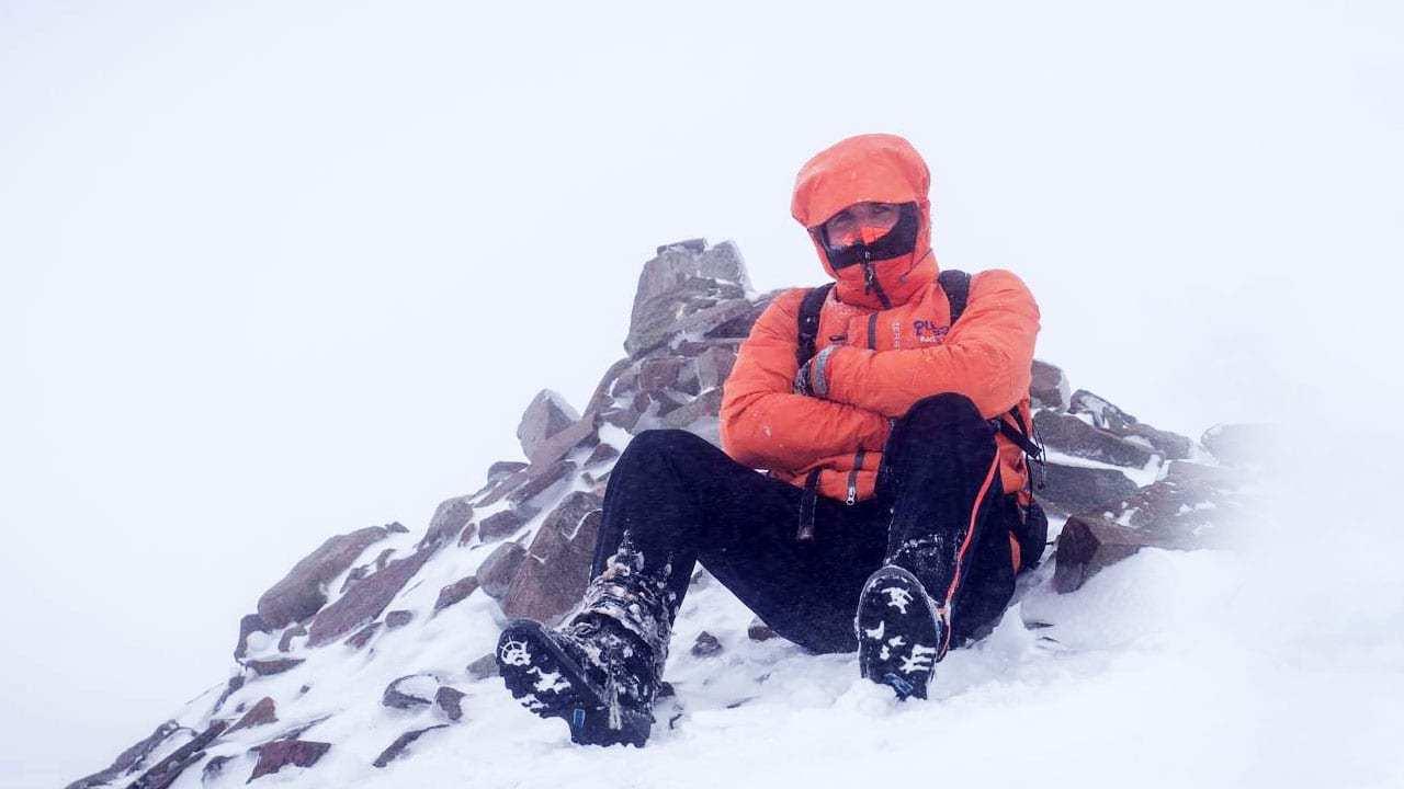 hipotermi geçiren dağcı