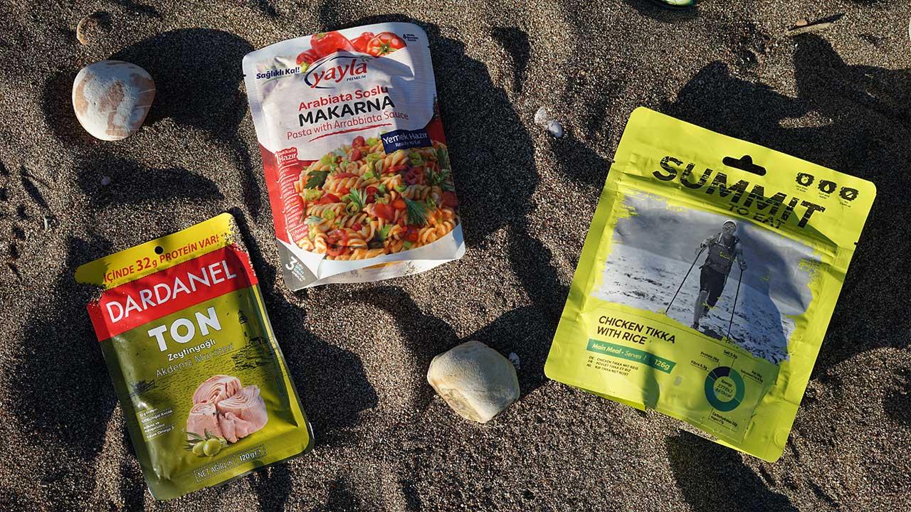 Dardanel Yayla makarna ve Summit to eat kamp gıdaları