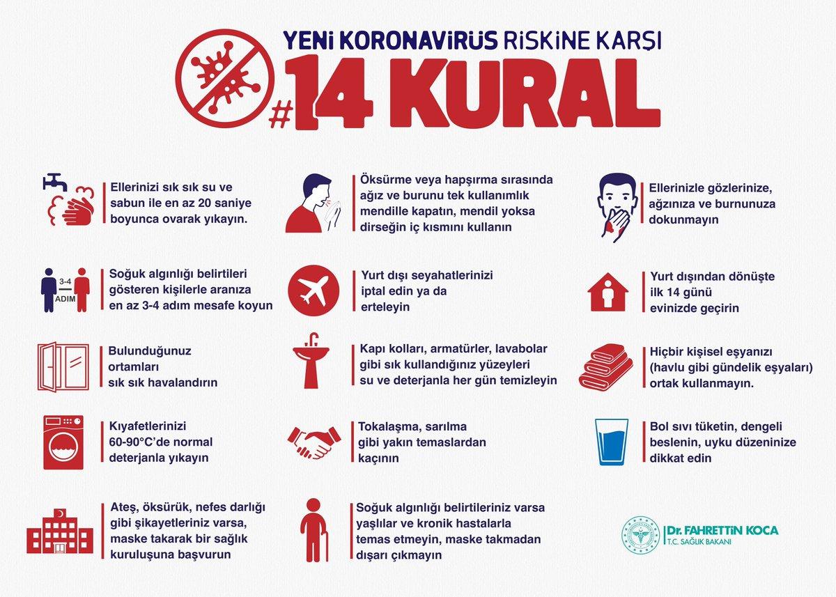 coronavirüs önlemler