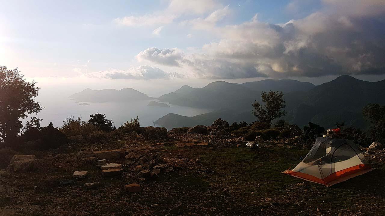Likya yolu kamp