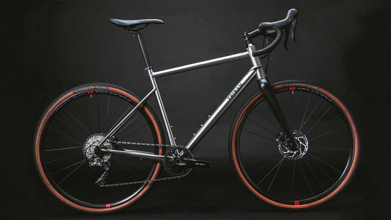 Decathlon Triban GRVL 900 titanyum bisiklet