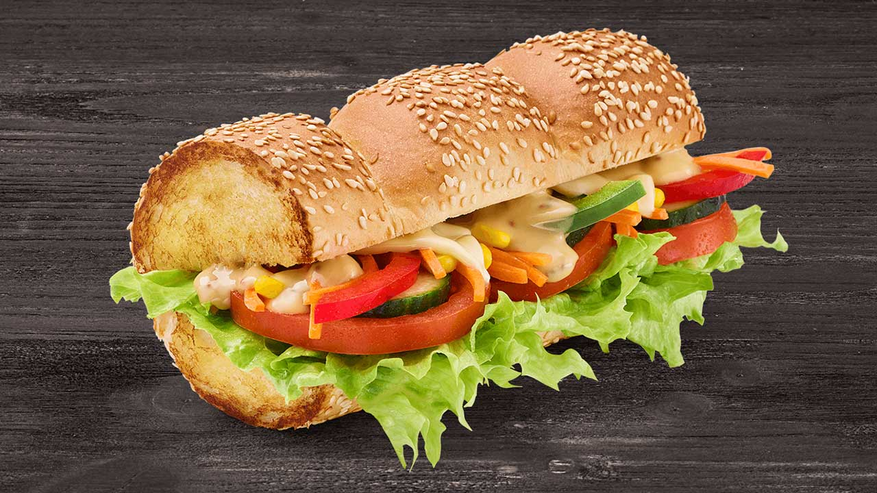 Subway veggie delight sandviç