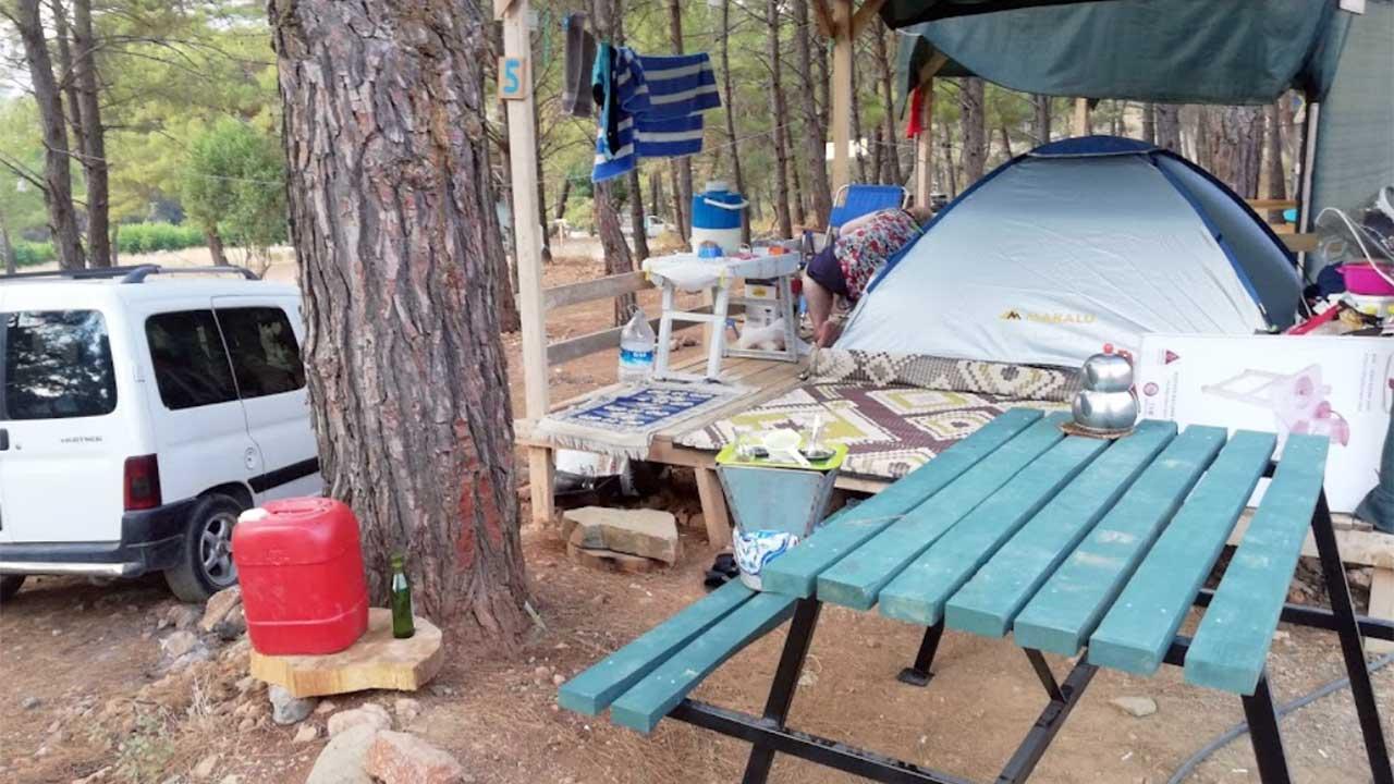 ücretli kamping alanı