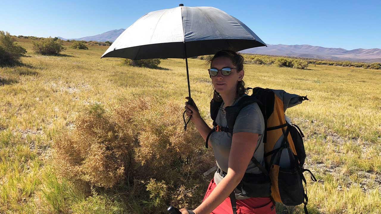 Şemsiye ile yürüyüş